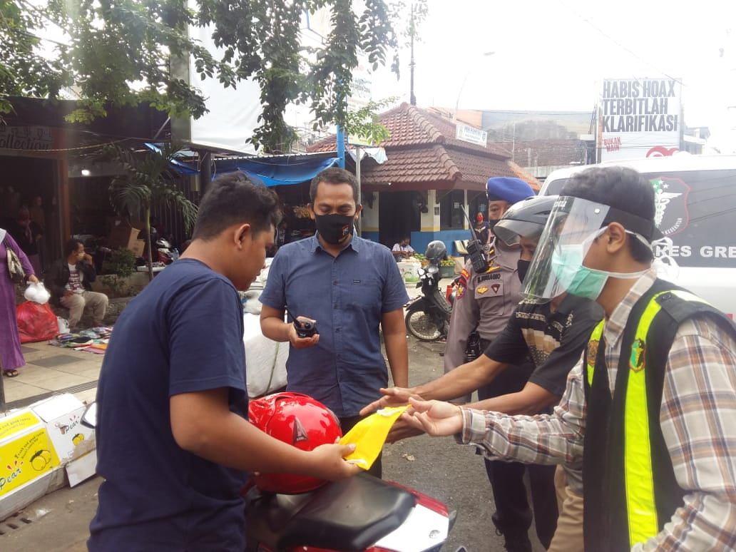 Polres Gresik Intensifkan Sosialisasi Transisi New Normal.